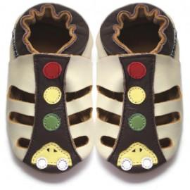 Sandales Cuir Souple voiture