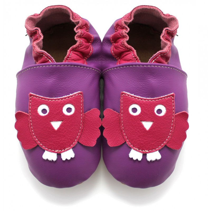 f0cf066f7bfe0 Chaussons Cuir Souple Chouette