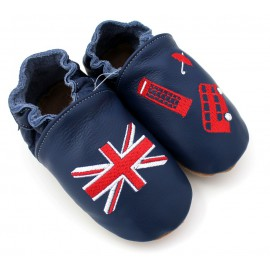 Chaussons cuir souple Anglais