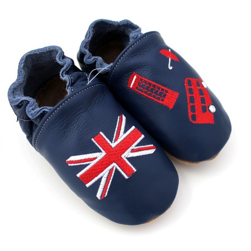 19e3504d0f254 Chaussons cuir souple Anglais