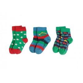 Lot 3 paires chaussettes coton bio Cars