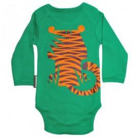 Set cadeau body + bavoir Tigre