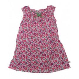 Robe coton bio Multi-Fleurs 0-3 Mois