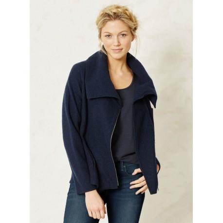 7045f40b570d Gilet bleu marine laine femme gilet bleu