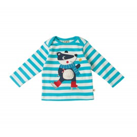 Tee-shirt coton bio Turquoise 3-6 Mois