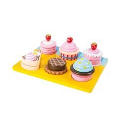 Cupcakes et gâteaux bois a decouper