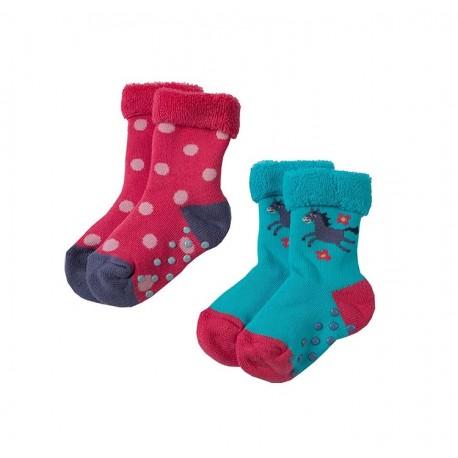 Lot 3 paires chaussettes coton bio Anti-dérapantes