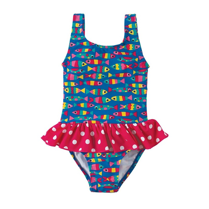 little sally swimsuit maillot de bain anti uv bebe fille frugi. Black Bedroom Furniture Sets. Home Design Ideas