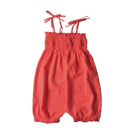Barboteuse coton bio rouge