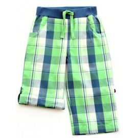 Pantalon - Bermuda coton bio carreaux