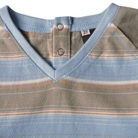 t-shirt coton bio teddy rayé idéo