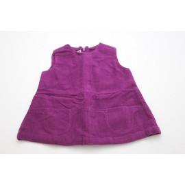 Robe coton bio velours violet