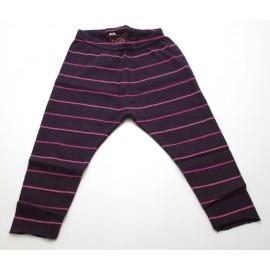 Legging coton bio rayé cerise