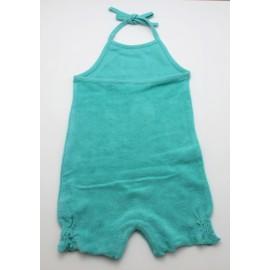 Barboteuse coton bio serviette turquoise