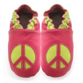 Chaussons cuir souple Hippie