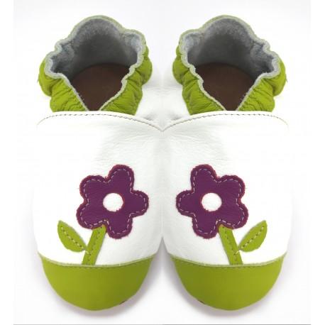 Chaussons cuir souple Petite Violette
