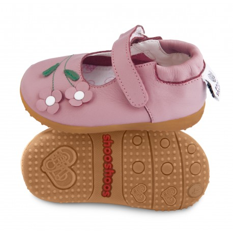 Chaussures souples cuir Biscuit crumble