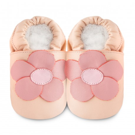 Chaussons souples cuir chamomile