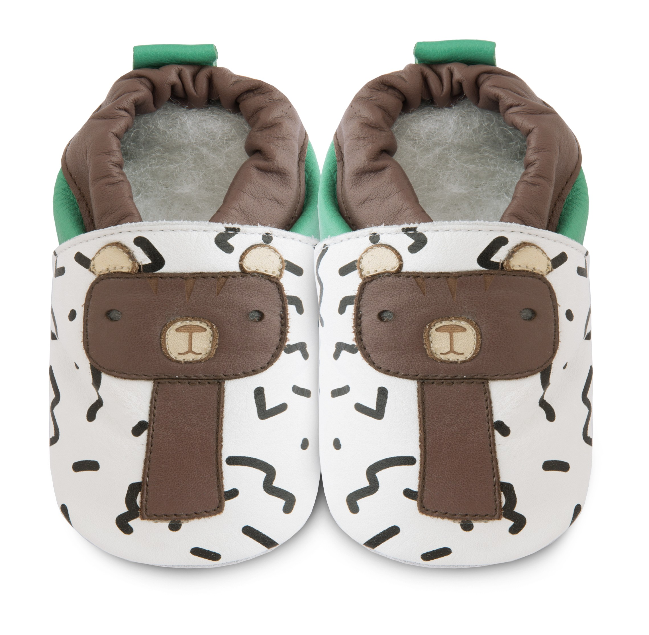 b523a7f47ac05 Chaussons souples cuir Barry the bear