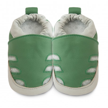 Chaussons souples cuir Green peace