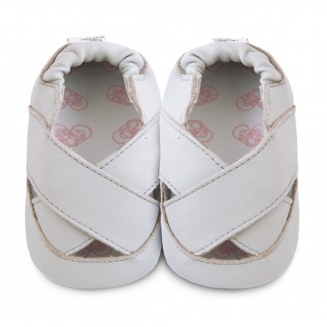 Chaussons souples cuir clover