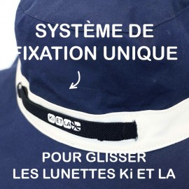 Chapeau Anti-UV Reversible Kapel Navy