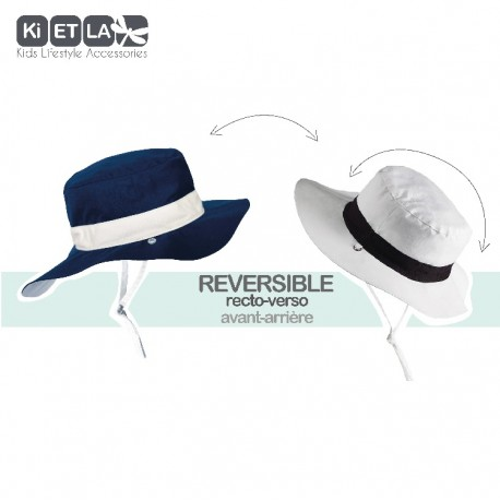 Chapeau Anti-UV Reversible Kapel Navy