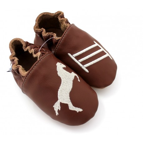 Chaussons cuir souple Cheval