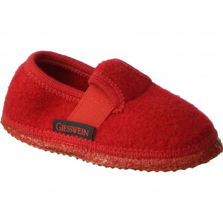Chaussons laine Turnberg rouge