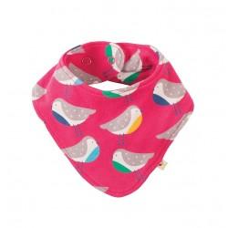Bavoir bandana coton bio Rainbow Robin