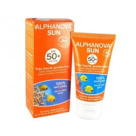 Lait solaire bio SPF50 + (50gr) alphanova