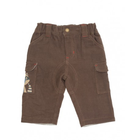 Pantalon marron raton laveur