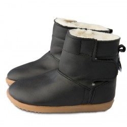 Bottines cuir souples fourrees Lux