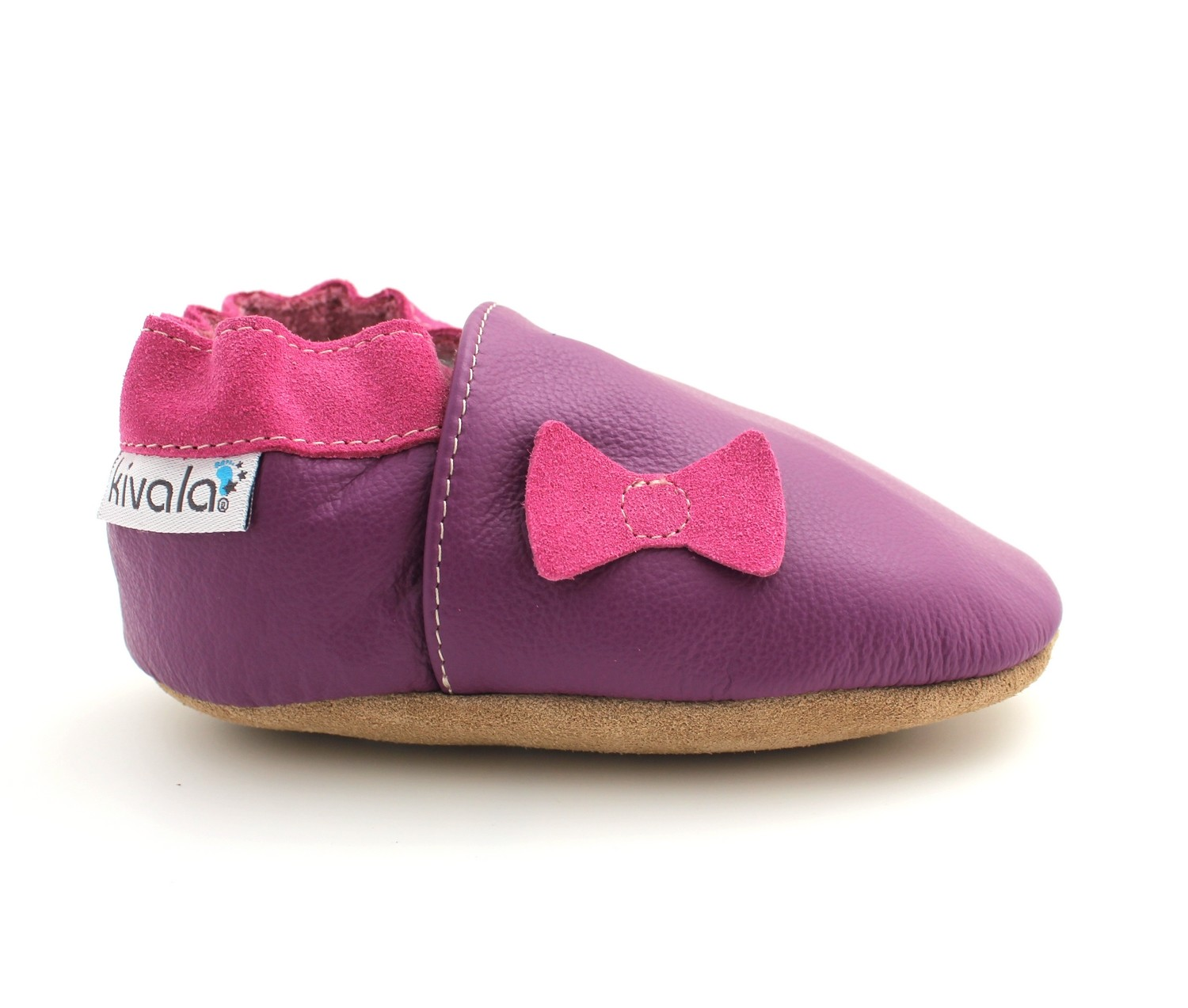 f64a3369c1b8d chaussons cuir souple noeud